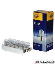 10 Stück Hella 12V 21W Bremslicht Glühlampe Rücklicht Birne Lampe  P21W BA15s