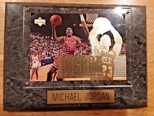 MICHAEL JORDAN VINTAGE SPORTS PLAQUE CHICAGO BULLS BASKETBALL UPPER DECK
