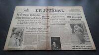 """LE JOURNAL"" EDITION DE 5 HEURES ANCIEN N°17303 MARDI 5 MARS 1940 ABE"