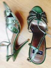 Bertie Shoes  Gorgeous Jupiter in GREEN LEATH  size 37 original £75 bargain