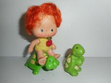 Vintage Strawberry Shortcake Apple Dumplin Tea Time Turtle Doll Figure Lot 1979