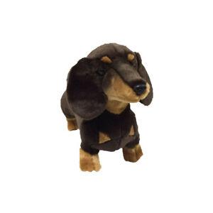 NEW Dachshund Sausage Dog Puppy Stretch Plush Stuffed Toy 36cm by Bocchetta  NEW