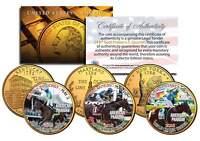 AMERICAN PHAROAH Triple Crown Winner 3-Coin Set Quarters Gold Plated TEST ISSUE