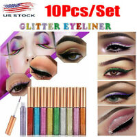 10 Colors Eye Shadow Palette Sequin Glitter Makeup Shimmer Eyeshadow Cosmetic
