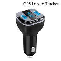 Car GPS Tracker Locator Real Time Tracking Device Dual USB Car Charger Voltmet I