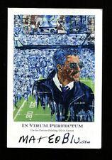 Joe Paterno Artwork In Virum Perfectum 4x6 Photo Card Penn State Matthew Rice