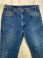 Vintage Levis 505 Regular Straight Leg Jeans 36x30 38x30 Made in USA