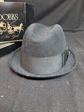 Great old hat vintage black Stetson 3X Beaver Mode Edge 7 w/box 1940-1950s