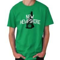 New Hampshire Weed NH Stoner 420 Souvenir Short Sleeve T-Shirt Tees Tshirts