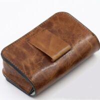 Soft Genuine Leather Watch Travel Storage Case Organizer Watch Pouch Storage Bag