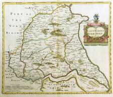 1695 Antique Map YORKSHIRE EAST RIDING Robert Morden RARE 1st Issue COLOUR