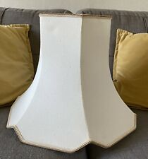 Vintage Style Standard Lampshade / Very Large Table Lamp Shade - Cream Dupion