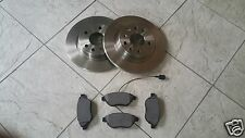 FIAT PUNTO GRANDE 05-TWO FRONT SOLID 257 MM BRAKE DISCS AND A SET OF BRAKE PADS