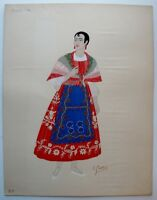 Spanish Woman's Costume from Murcia by Emile Gallois, c1930's