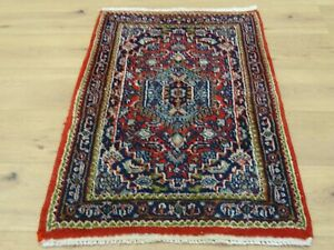 Schöner Handgeknüpfter Perser Orientteppich BIDJAR Rug Tapis Carpet 95x65cm