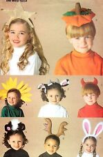 BUTTERICK PATTERN 6304 OOP GIRLS BOYS CHILD COSTUME HEADPIECE HEADBANDS ONE SIZE