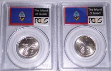 2009-P&D GUAM TWO-COIN SET 25c PCGS MS66