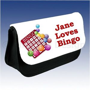 Personalised Name Bingo Dabber Case Make Up Pencil Bag Gift Christmas Birthday