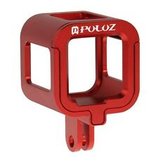 Red Housing Shell Aluminum Alloy Protective Cage For GoPro HERO5 /4 Session