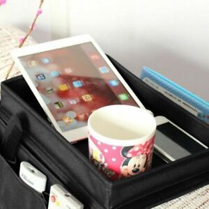 Universal Sofa Arm Rest Organiser w/ 6 Pockets Remote Snack Tray Storage Bag AU