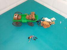 Britains wild far west cowboy indien soldat figurine attelage chariot wagon 7617