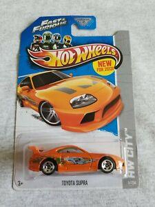 2013 Hot Wheels TOYOTA SUPRA Orange 5/250 EXCELLENT CARD Fast & Furious