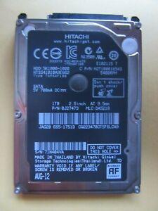 "Hitachi 5K1000-1000 1TB 2.5"" SATA HDD 0J27473 JAG2B 2012 Thai DA5218 655-1751D"