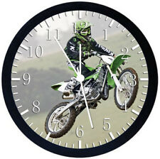 Motor Cross Black Frame Wall Clock Nice For Decor or Gifts W394