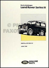 Manual Land Rover Series III Official Parts catalogue Petrol Diesel 88 109 1 ton