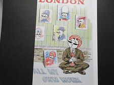 Air India  Airline  Travel Poster London  From   American Express Travel Office