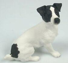 Jack Russel Terrier  figur  hund enesco hundefigur  alabaster sw