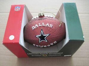"DALLAS COWBOYS WILSON FOOTBALL HAND PAINTED BLOWN GLASS ORNAMENT NFL 5-1/2"""