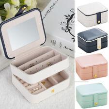 GIFTS Jewelry Organizer Box Bulit-in Mirror Travel Portable Jewelry Storage Case