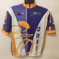 MS Bike Tour Jack Daniels And Back Jersey Cycling Shirt 2002 Vomax XL Old No 7