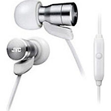 JVC Micro HD in Ear Earphones Headphones With Remote Smart Switch Mic - White