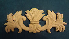 Decorative Accent / Applique - Medallion with side scrolling (wood grain)