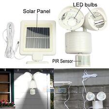 22 LED Solar Powered Motion Sensor PIR Security Light Garden Garage Lamp White