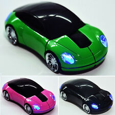 Wireless Mouse Fashion Car Shape Game 2.4Ghz USB Optical Mice for PC Computer UK