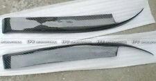 A++ 2Pcs Headlight Eyebrow Eyelid Protecter For Nissan Skyline R32 Carbon Fiber