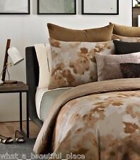 2 Kenneth Cole Dream Queen Standard Shams Ombre Abstract Brown Gray Bronze Rust