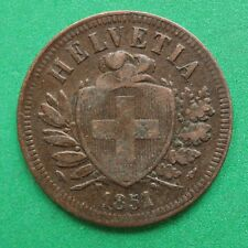 1851 Switzerland 2 Rappen SNo47490