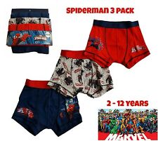 Boys Spiderman Superhero Boxers Pants Briefs Kids Underwear 3 PACK Character NEW
