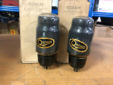 Pair NOS New in box GEC Osram KT66 Vacuum Tubes Tested Guaranteed!