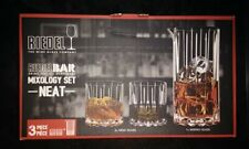 RIEDEL SPIRIT BAR 2 x NEAT WHISKY GLASS & MIXING GLASS BNIB RRP £60