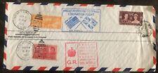 1937 London England Anglo Amer Goodwill Coronation Flight Cover to New York Usa