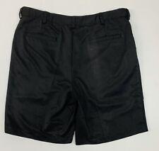 Izod Golf Men's Classic Pleated Shorts - 100% Polyester - Black - Size 38