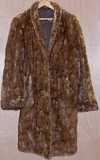 Womens Size XL Fur Coat Jacket 42 Brown Old Vintage Ladies Long Winter Chocolate