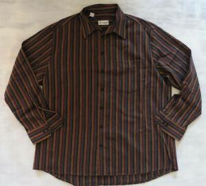 Waldbusch extraglatt bügelfrei Vintage Retro Hemd gestreift Gr 44 XXL 2XL F245