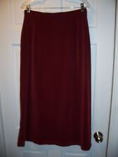 Tribal Skirt Size 10 Long Length Career Stretchy Cranberry Wine Color
