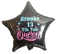 Tik Tok Balloon Happy Birthday Party Balloons Decorations PERSONALISED TIK TOK